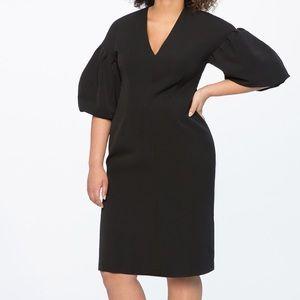 Eloquii Puff Sleeve V-neck dress